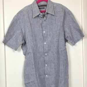 Men's Perry Ellis Button Down Short Sleeve Small
